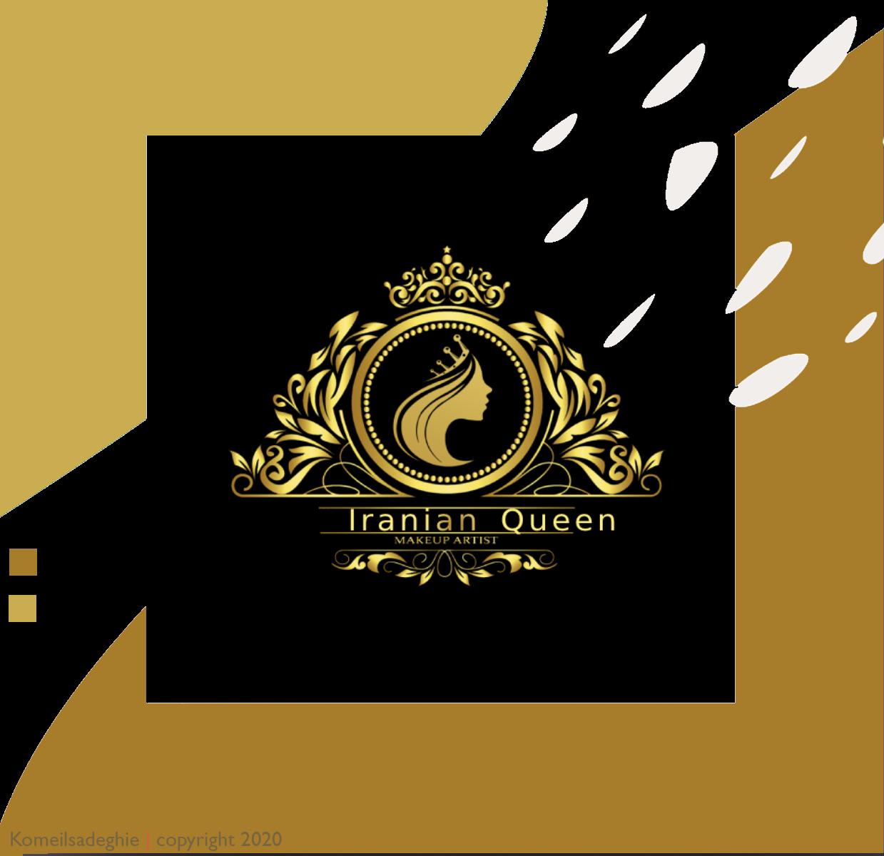 لوگو سالن زیبایی ملکه ایرانی
